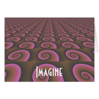 Diseño del pensamiento creativo - imagínese tarjeta pequeña