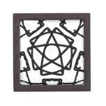 Diseño del Pentagram del pentáculo Caja De Joyas De Calidad