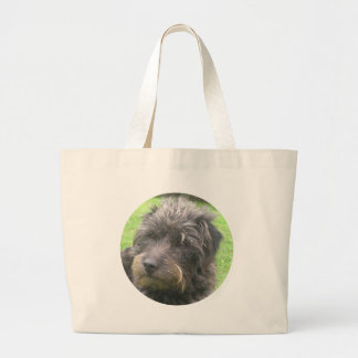 diseño del perro bolsa tela grande