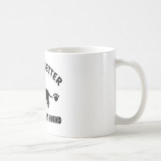 diseño del perro de caza del afloramiento taza de café