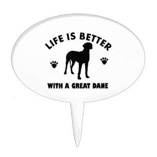 Diseño del perro de great dane palillos de tarta