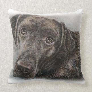 Diseño del perro de Labrador de arte animal Cojín Decorativo