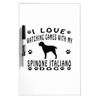 Diseño del perro de Spinone Italiano Pizarras
