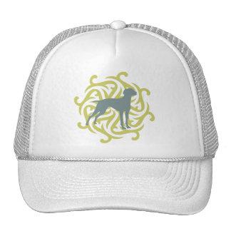 Diseño del perro de Vizsla (cal y pizarra) Gorras De Camionero
