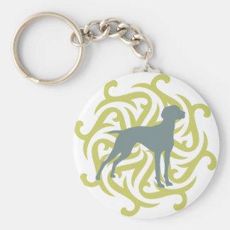 Diseño del perro de Vizsla (cal y pizarra) Llaveros Personalizados