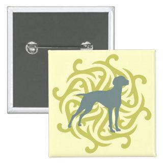 Diseño del perro de Vizsla (cal y pizarra) Pins