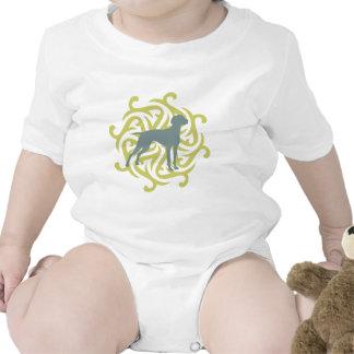 Diseño del perro de Vizsla (cal y pizarra) Trajes De Bebé