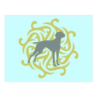 Diseño del perro de Vizsla (cal y pizarra) Tarjetas Postales