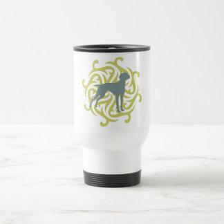 Diseño del perro de Vizsla (cal y pizarra) Tazas De Café