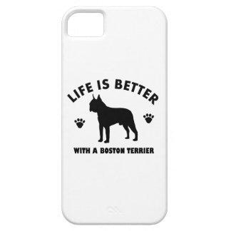Diseño del perro del terrier de Boston Funda Para iPhone SE/5/5s