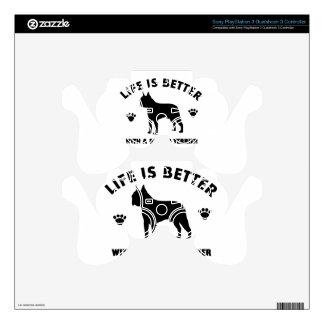 Diseño del perro del terrier de Boston Mando PS3 Skins