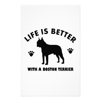 Diseño del perro del terrier de Boston Papeleria De Diseño