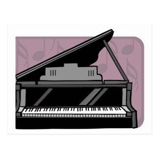 diseño del piano postales