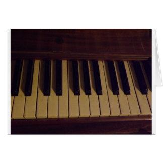 Diseño del piano tarjeta de felicitación