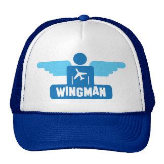 diseño del piloto del wingman gorro