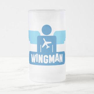 diseño del piloto del wingman taza de cristal