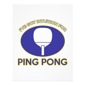 diseño del ping-pong plantillas de membrete