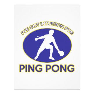 diseño del ping-pong plantilla de membrete