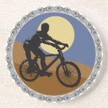 diseño del piñón de cadena de la bici de montaña posavasos cerveza