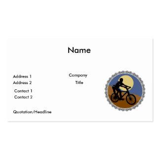 diseño del piñón de cadena de la bici de montaña tarjetas personales