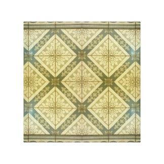 Diseño del piso del ornamento impresión en lienzo estirada