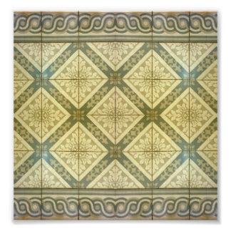 Diseño del piso del ornamento impresión fotográfica