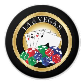 Diseño del póker de Las Vegas Pomo De Cerámica