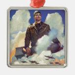 Diseño del poster de la fuerza aérea del vintage ornamento para reyes magos