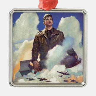Diseño del poster de la fuerza aérea del vintage W Ornamento Para Reyes Magos