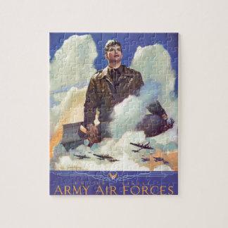 Diseño del poster de la fuerza aérea del vintage W Puzzle