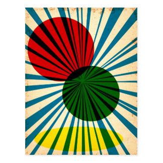Diseño del poster del vintage postales