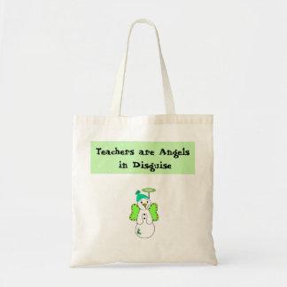 Diseño del profesor del ángel de la nieve bolsa tela barata