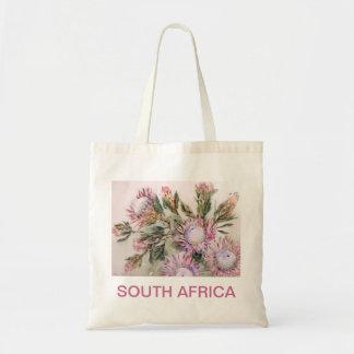 Diseño del Protea con las letras rosadas Bolsa De Mano