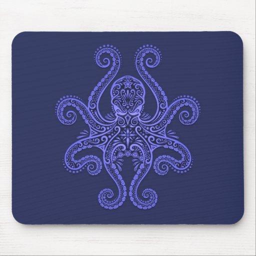 Diseño del pulpo (azul) tapetes de raton