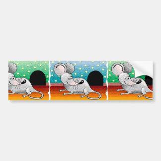 Diseño del ratón del dibujo animado pegatina para auto