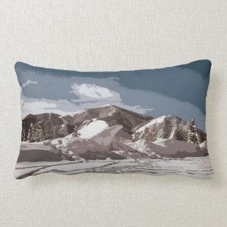Diseño del recorte de las escenas del invierno de  cojines