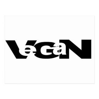 Diseño del recorte del vegano postal