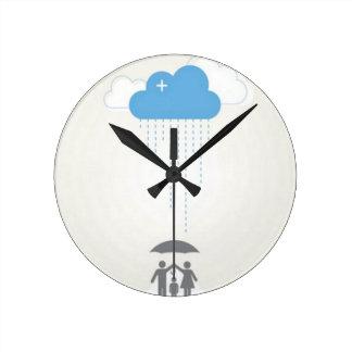 Diseño del refugio del paraguas relojes
