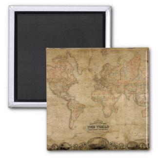Diseño del regalo de Classc del mapa de Viejo Mund Iman De Nevera