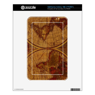 Diseño del regalo de Classc del mapa de Viejo Mund Samsung Galaxy Tab Skins