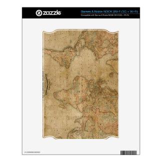 Diseño del regalo de Classc del mapa de Viejo Mund Skin Para El NOOK