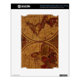 Diseño del regalo de Classc del mapa de Viejo Mund NOOK Skins