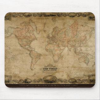 Diseño del regalo de Classc del mapa de Viejo Mund Tapetes De Raton
