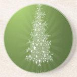 Diseño del regalo de promoción del árbol de navida posavasos cerveza