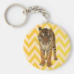 Diseño del regalo del arte del tigre llavero