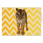 Diseño del regalo del arte del tigre tarjeta de felicitación