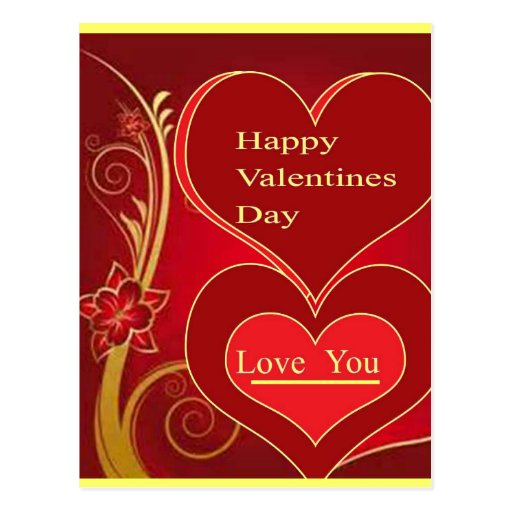 Diseño del regalo del día de San Valentín por Tarjeta Postal