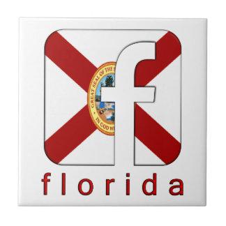Diseño del regalo único del logotipo de la Florida Teja
