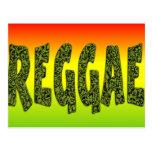 Diseño del reggae postales