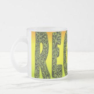 Diseño del reggae taza de cristal